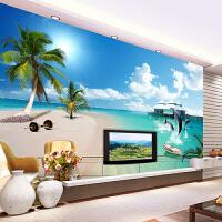 省心海景海滩无缝墙布客厅墙纸壁画大型背景墙电视3d壁纸简约壁画