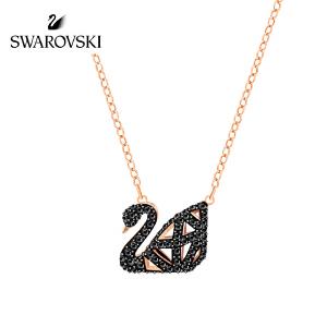 SWAROVSKI/施华洛世奇 Facet Swan黑色女款黑天鹅项链 5281275