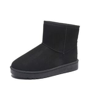 WARORWAR新品YM152-a1818冬季欧美磨砂反绒平底舒适女士雪地靴