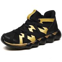 秋季男鞋休闲运动鞋特大码45黑色46男士潮鞋加大号47透气跑步鞋子
