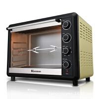 电烤箱 家用烘焙上下独立控温发热烤叉电烤箱 家用 金色
