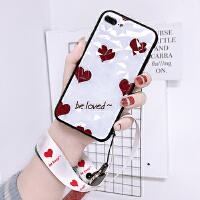 菱形壳iPhonex手机壳挂绳苹果7plus女8plus简约iPhone xs max潮牌爱心6s个 / 白底爱心
