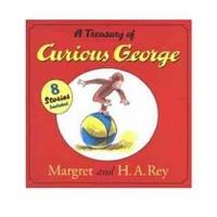 [现货]好奇猴乔治的宝藏 英文原版 A Treasury of Curious George 8个故事合集 精装图画书