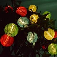 太阳能灯笼灯串太阳能防水灯串过年中秋节日花园装饰彩灯闪灯串灯