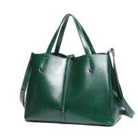 2018时尚女包单肩购物袋手提包简单实用女士大包百搭潮流 绿色