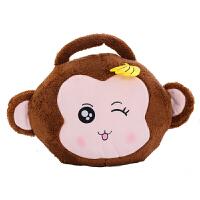 抱枕毯 卡通空调毯三合一可插手抱枕靠垫小猴子公仔毛绒玩具猴子布娃娃女生生日礼物 +usb+毯子