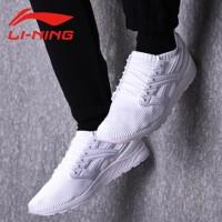 李宁男款春季一体织袜套休闲鞋 透气轻便运动鞋健身袜子鞋情侣鞋AGLN015