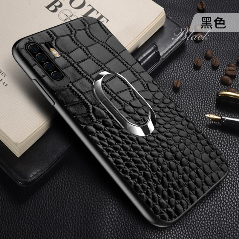 华为p30手机壳真皮p30pro皮套p30lite保护套带磁吸指环支架定制por皮革 升级款带磁吸指环支架,头层牛皮,防汗渍