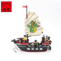 启蒙玩具小颗粒拼装积木拼插模型6-10岁儿童益智玩具海盗系列301 儿童礼物 拼装积木玩具 211块颗粒 启蒙积木小颗