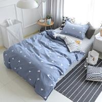 ???全棉学生宿舍1.2米床三件套0.9m寝室单人床1.5米纯棉被套床单套件 ( 学生三件套+被芯+枕芯 )