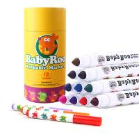 美乐儿童水彩笔套装宝宝幼儿园画画涂鸦12色无毒可水洗画笔水彩笔