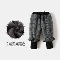 0宝宝加绒裤子女童加厚打底裤1外穿2婴幼儿童秋冬季毛呢裤3岁保暖