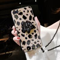 苹果6s手机壳iphone6保护套7plus潮女6splus硅胶i7玻璃壳保护壳8p豹纹创意外壳i6