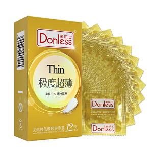 多乐士避孕套(进口版)极度超薄12只/盒 超薄 保险套 情趣 成人用品