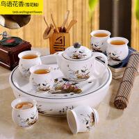 功夫茶杯茶壶青花瓷茶盘茶道 茶具套装家用整套景德镇陶瓷
