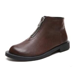 WARORWAR 2019新品YM99-7703冬季韩版平底鞋舒适女鞋潮流时尚潮鞋百搭潮牌靴子裸靴