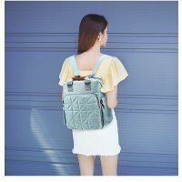背包双肩包多功能育婴背包轻便大容量户外青年女士背包