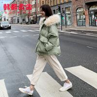 【1件3折601元】韩都衣舍2019冬装新款韩版女装加厚短款面包服羽绒服潮NF11699��