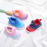 0-1-3岁女宝宝鞋子春秋软底小童运动鞋毛毛虫童鞋婴儿学步鞋
