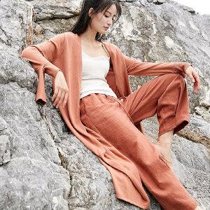 [AMII东方极简] JII AMII 2018春装中长款针织开衫女原宿复古小心机上衣