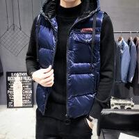 秋冬季2018男士马甲韩版潮流无袖坎肩羽绒装帅气外套格子马夹