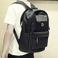 双肩包男韩版青少年书包校园初高中学生帆布包男生青年休闲电脑包