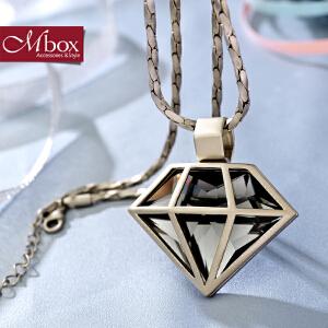 新年礼物Mbox项链 女款韩国版原创采用波西米亚风元素时尚锁骨项链 钻石心