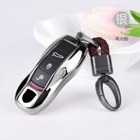 适用于保时捷汽车钥匙壳扣macan卡宴改装新帕拉梅拉钥匙包套女718 汽车用品