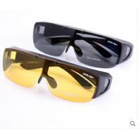 美观便携近视偏光太阳镜套镜司机镜夹片镜 墨镜近视可上翻夜视镜