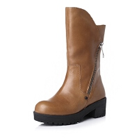 BASTO/百思图冬季专柜同款牛皮女靴TP660DZ5
