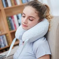本菲卡泰国乳胶U型枕头护颈枕颈椎枕汽车旅游午睡枕办公室用
