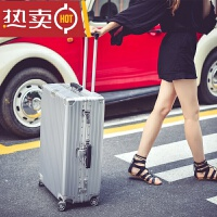 复古拉杆箱万向轮24行李箱学生密码箱26铝框旅行箱20登机箱子男女SN3111