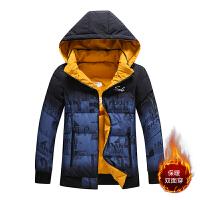 2021年新款棉服男冬季外套双面穿连帽运动休闲保暖男装