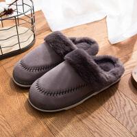 棉拖鞋女厚底冬季2018新款韩版可爱毛毛绒保暖室内防滑家居家用