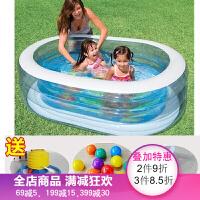儿童游泳池充气家庭 戏水大号浴盆滑梯沙池小孩波波球池 17.椭圆形水池