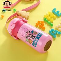 PaulFrank/大嘴猴儿童保温杯带吸管宝宝便携水杯子不锈钢学生水壶
