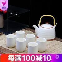 陶白景德镇陶瓷茶具套装家用整套功夫现代简约茶壶茶杯茶盘