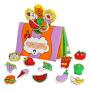 LALABABY/拉拉布书 0-1-3岁婴幼儿童立体布书宝宝撕不烂启蒙早教益智玩具 今天吃什么