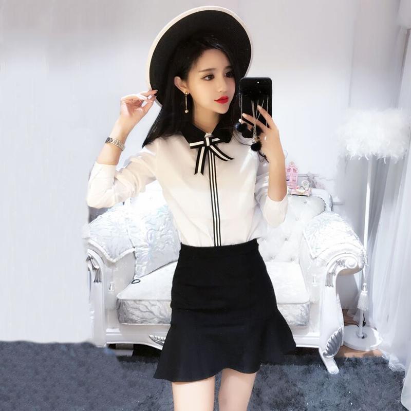 新款女装春装套装上衣配裙子衬衫高腰短裙鱼尾裙半身裙两件套 一般在付款后3-90天左右发货,具体发货时间请以与客服协商的时间为准