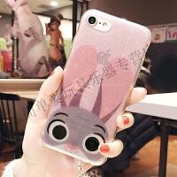 iphone7手机壳苹果8plu软胶壳X/6s全包保护套 6/6s 闪粉流苏 大脸朱迪