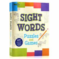 现货Sight Words Puzzles and Games第2册 220个高频词 英文原版 常见字核心词汇儿童字典