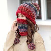 帽子女秋冬季韩版潮百搭甜美可爱女士针织毛线帽冬天保暖护耳新款 8377