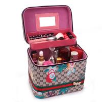 时尚化妆包韩国大容量手提双层化妆箱便携旅行多功能化妆品收纳盒