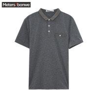 美特斯邦威短袖T恤男 夏装新款简约休闲POLO衫712072商场同款