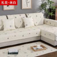 全棉沙发垫四季通用布艺双面纯棉沙发套田园简约现代沙发巾定做
