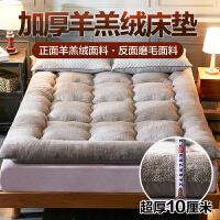 8斤加厚10cm羊羔绒床垫子保暖榻榻米床褥子1.5m1.8米床单双人垫被 10cm羊羔绒床垫 - 灰色