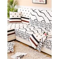 四季防滑布艺沙发垫巾套罩 欧式简约现代通用全盖�f能全包坐垫子m2h