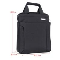 防水尼龙13寸电脑包竖款单肩斜挎手提包笔记本包通勤公文包