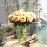 【1件3折 领券】时尚淡雅干花束玫瑰花套装 MW03332客厅餐桌装饰花摆件摆设花艺