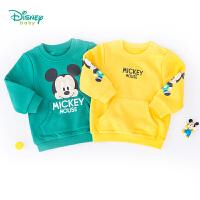【139元3件】迪士尼Disney童装 男童迪士尼宝宝套头卫衣春秋新品抓绒系列卫衣193S1163